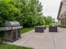 outdoor patio with grill